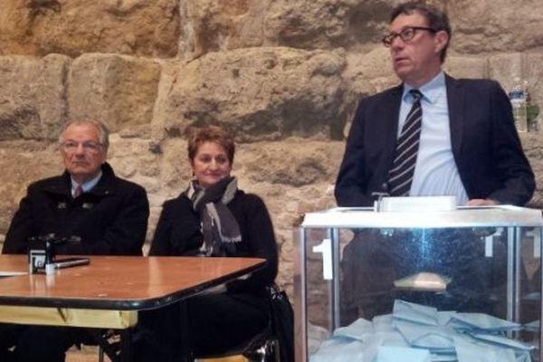Archives. Jacques Bascou, l'auteur du recours, à Narbonne lors du second tour des municipales 2014
