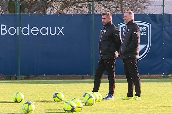 Entraînement des Girondins à Bordeaux le 31 décembre 2017.