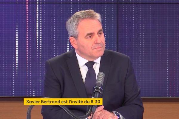 Xavier Bertrand était l'invité de FranceInfo, vendredi 2 avril.