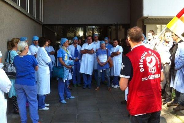 Mobilisation des infirmières notamment au CHU de Grenoble