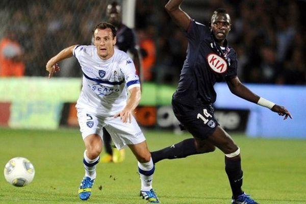Cheick Diabaté ( à droite) face à Bastia lors de la seule victoire de Bordeaux cette saison en championnat.