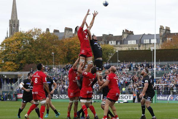 La rencontre Bath-Toulouse, perdue 22-20 par les Anglais le 13 octobre dernier