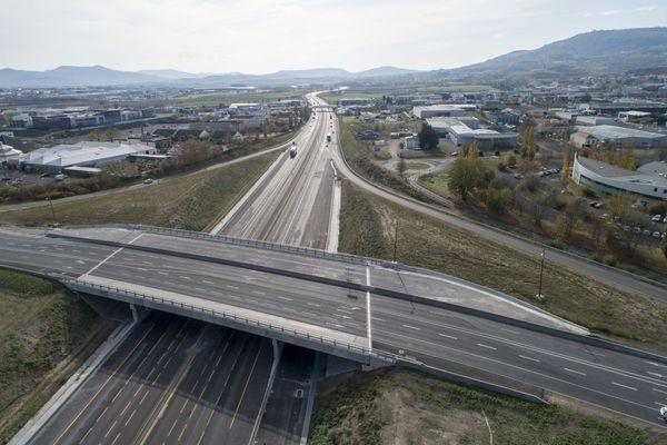 Sur l'autoroute A75, les travaux se poursuivent au sud de Clermont-Ferrand.