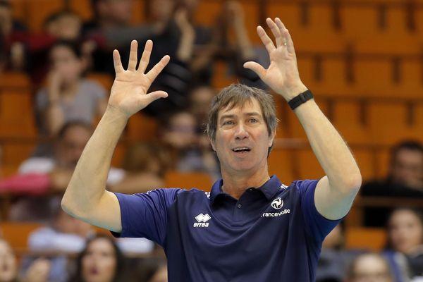 Le Cannois Laurent Tillie à domicile ce week-end pour les matchs de la Volleyball Nations League avec l'équipe de France.