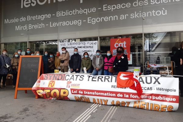 Ce dimanche 6 mai, la bibliothèque des Champs Libres était fermée. Les agents protestent contre le projet de modification de leurs repos compensateurs