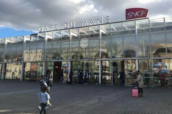 La gare SNCF au Mans, le 5 octobre 2017