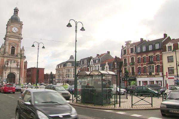 Le centre-ville de Lens