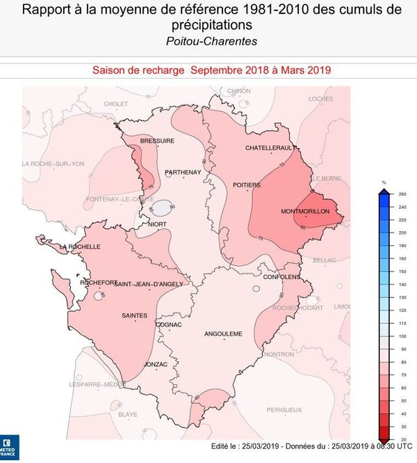 Le Montmorillonais est la zone la plus touchée par le manque de pluie hivernale.