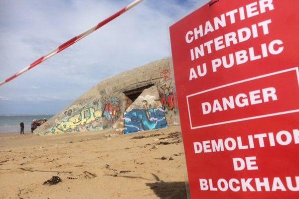 La démolition des blockhaus à St-Clément-des-Baleines va être longue.