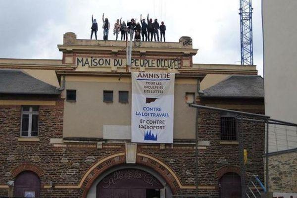 Rebaptisée maison du peuple, la salle de la Cité de Rennes était devenue le coeur de la lutte contre la loi travail à Rennes.