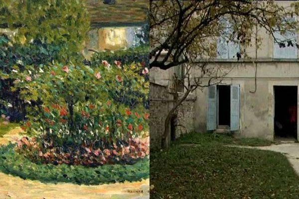 """La ville d'Argentan veut notamment redonner son aspect d'origine au jardin de la maison d'enfance de Fernand Léger, peint dans le tableau """"Le jardin de ma mère"""""""