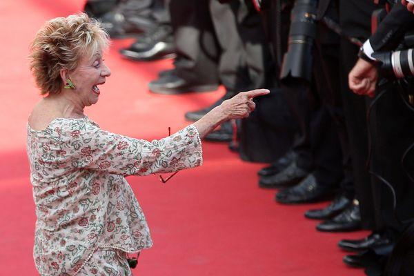 """Annie Cordy au 68ème festival international du film de Cannes lors de la présentation du film """"Mia Madre""""en compétition officielle, Mai 2015"""
