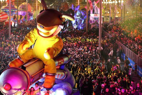 Le Carnaval 2018 sur la place Masséna.