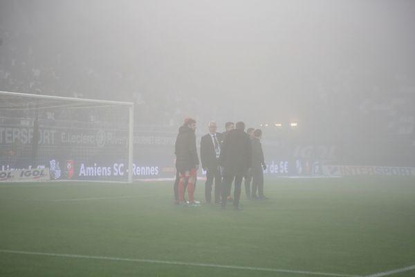 Le stade de la Licorne d'Amiens, le mercredi 4 décembre.