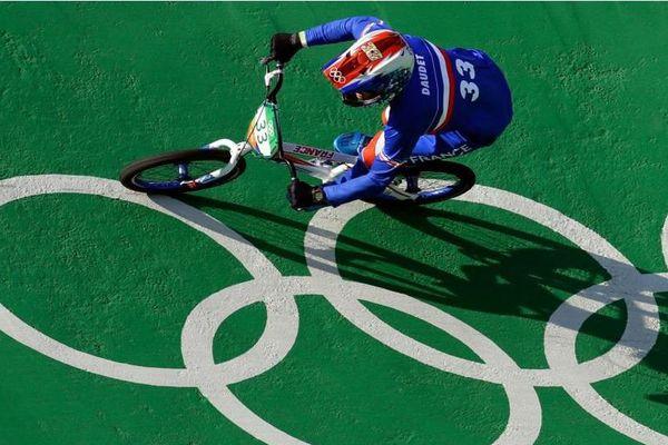 Le champion du monde bordelais de BMX Joris Daudet aux JO de Rio de Janeiro en 2016.