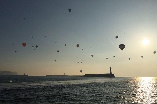 Les montgolfières au départ de Douvres ce vendredi matin