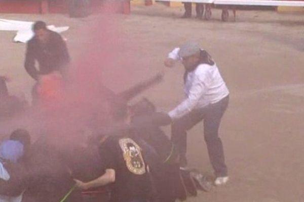 En octobre 2011, les aficionados s'en prennent aux anti corridas qui manifestaient illégalement dans l'arène à Rodilhan, dans le Gard