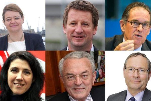 Les principales têtes de listes de la circonscription européenne Ouest