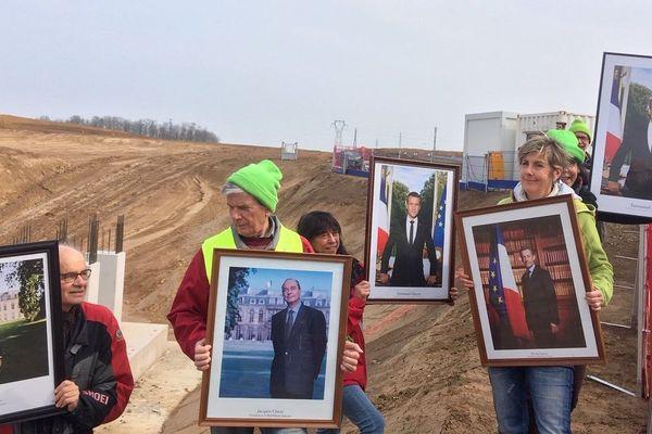Les portraits des quatre derniers Présidents en balade sur le chantier du GCO