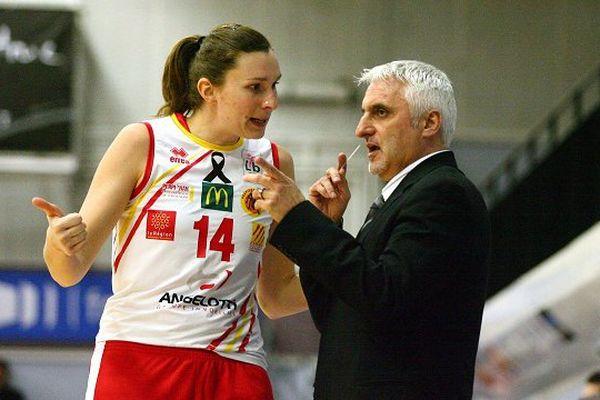 Elodie Bertal et le nouvel entraineur de Tarbes François Gomez