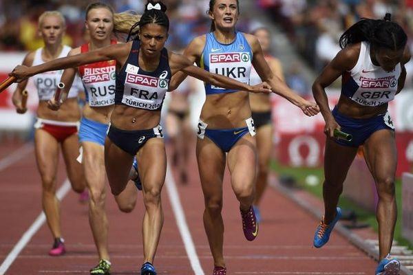 Floria Guei a remonté 3 places dans le dernier relais.