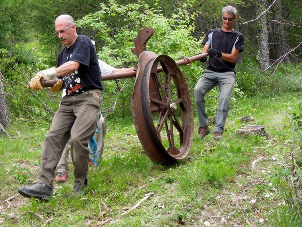Demontage de teleski sur la commune de Thorame-Haute (Alpes de Haute-Provence)
