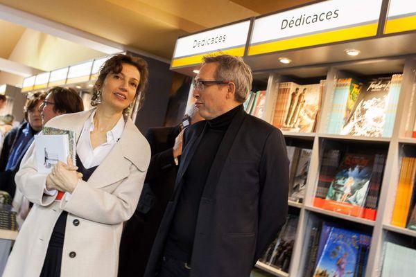 Audrey Azoulay, ministre de la Culture et de la Communication, était présente au Festival International de la Bande Dessinée d'Angoulême, le 26 janvier dernier.