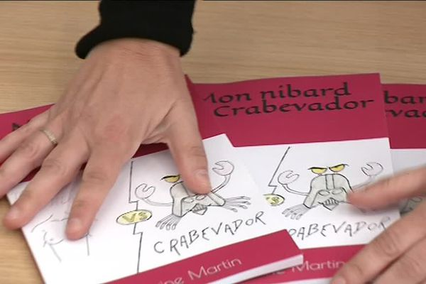 """Lyon : """"Nibard vs crabevador"""", le livre-témoignage de Séverine Martin sur le cancer du sein"""