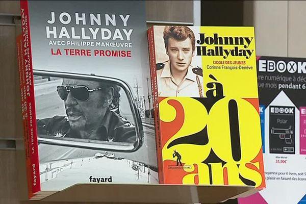 Johnny Hallyday est également largement abordé en librarie