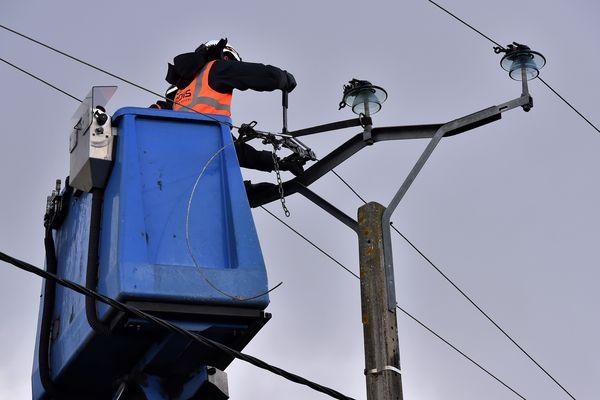 Au plus fort de la journée, mercredi 3 janvier, 4.500 foyers ont été privés d'électricité en Auvergne.