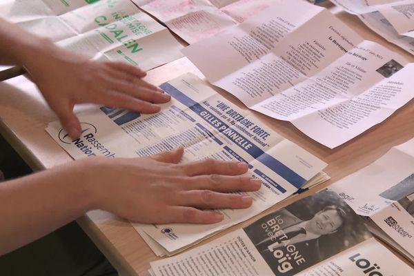 Un bulletin du rassemblement national au dépouillement - FTV
