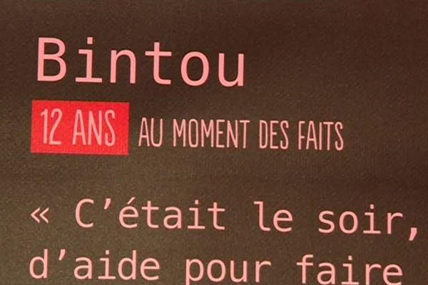 Un témoignage présenté à l'exposition autour du viol à Montreuil.