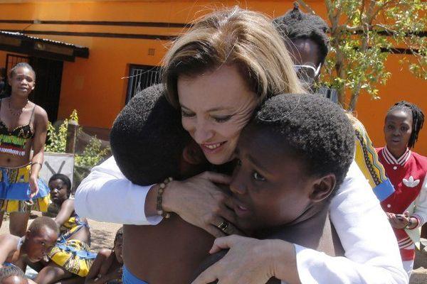 Valérie Trierweiler en voyage officiel à Soweto en Afrique du sud le 15 octobre.