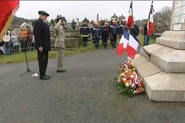 L'hommage s'est déroulé hier aux Monuments aux Morts de Tarnac en Corrèze