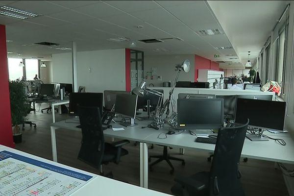 Les nouveaux locaux du Courrier Picard lors du déménagement de la rédaction en mai 2018