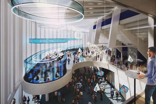 """Le nouveau stade de la Meinau est, selon Marc Keller, le président du Racing Club de Strasbourg, """"un projet ambitieux et réaliste""""."""