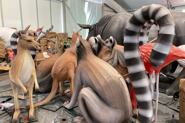 Les animaux du Festival des Lanternes prêts pour se retrouver dans le parc du Ritouret à Blagnac