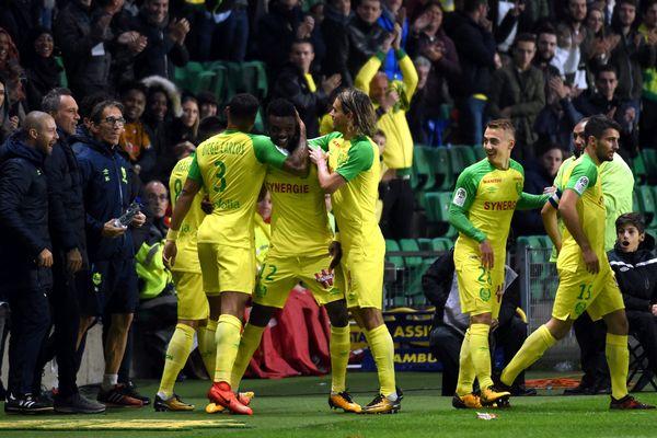 Abdoulaye Touré a inscrit le but de la victoire à le 86 ème minute, hier soir à la Beaujoire.