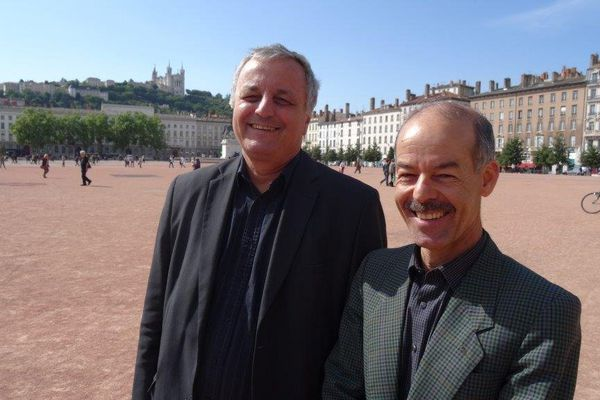 Avec Francois Alfonsi , tête de liste, Belkacem Lounes ,conseiller régional Rhône Alpe, également candidat sur la liste euro-regionaliste.
