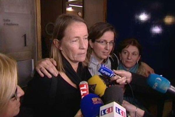 Isabelle Demangeot et les deux parties civiles