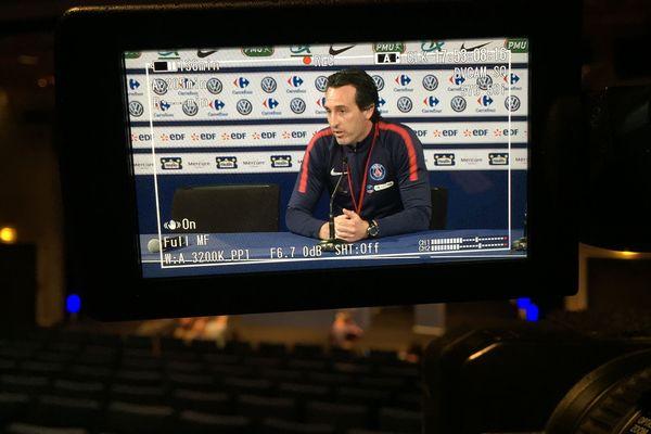 Unai Emery, l'entraîneur du Paris Saint-Germain.