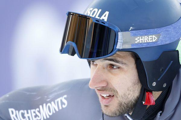 Mathieu Faivre, ce vendredi 9 décembre à Val d'Isère.