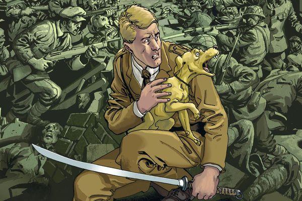 """Matthiew Hayward, le héros de l'album BD  """"L'autre deuxième guerre mondiale - Chien Jaune"""" - Dargaud éditeur"""