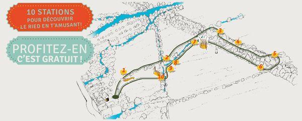 Le plan du sentier SensoRied.