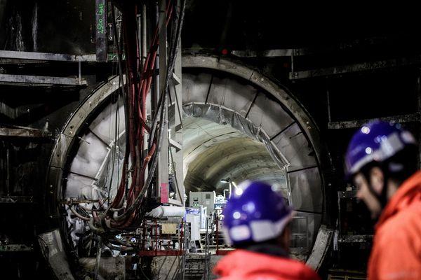 Les travaux d'extension de la ligne 12 du métro parisien, à Aubervilliers, en janvier 2018 (illustration).