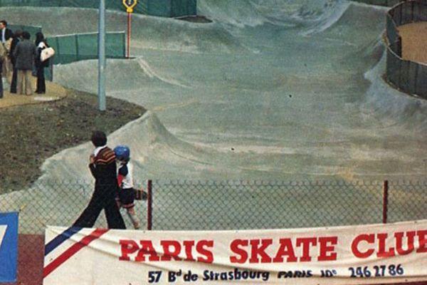 Le skatepark de la Villette, à Paris.