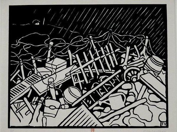"""Félix Valloton, """"Le Guetteur"""" (C'est la guerre! V, 1916)"""