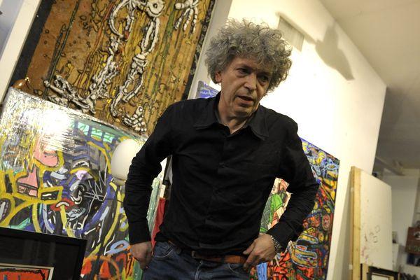 L'artiste Robert Combas, en 2013.