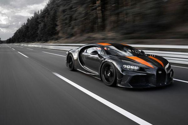 Un prototype dérivé de la Bugatti Chiron a battu un record de vitesse sur la piste d'essai Ehra-Lessien en Allemagne