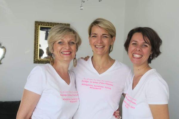 Sonia Mesplomb,  Sandrine Petitjean et Delphine Billet participeront pour le Maroc le 29 octobre prochain